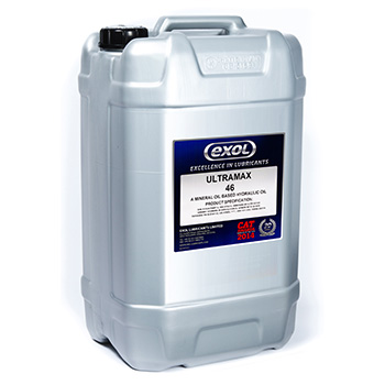 Exol UltraMax 46 hydraulic oil from PSSI, Cumbria, UK.