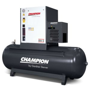 Champion KA5 screw compressor package from PSSI
